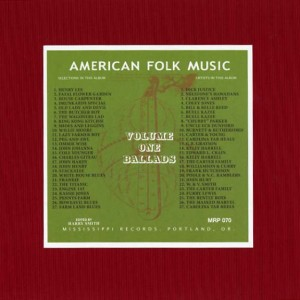 ANTHOLOGY OF AMERICAN FOLK MUSIC 1 VARIOUS ANTHOLOGY OF AMERICAN FOLK MUSIC